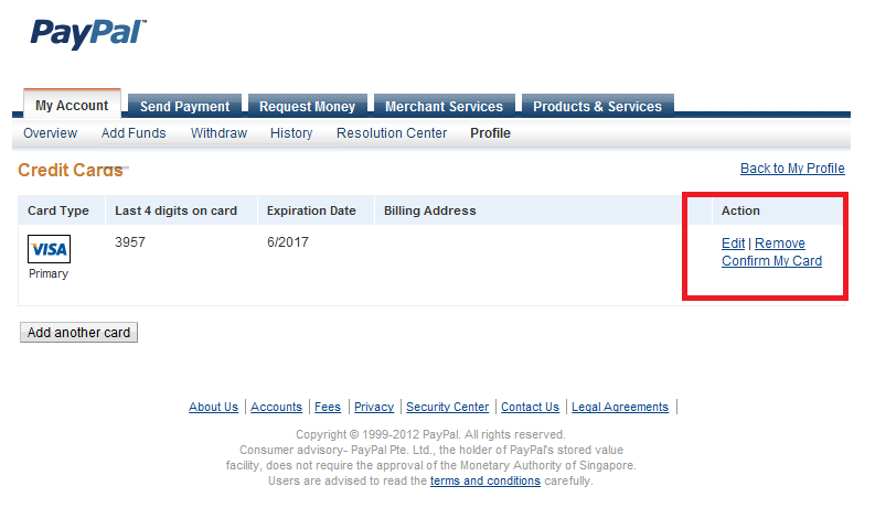 paypal my account profile addedit credit card fandeluxe Image collections